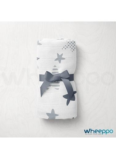 Wheeppo Gri Yıldız  Müslin Örtü  120*120 Cm Renkli